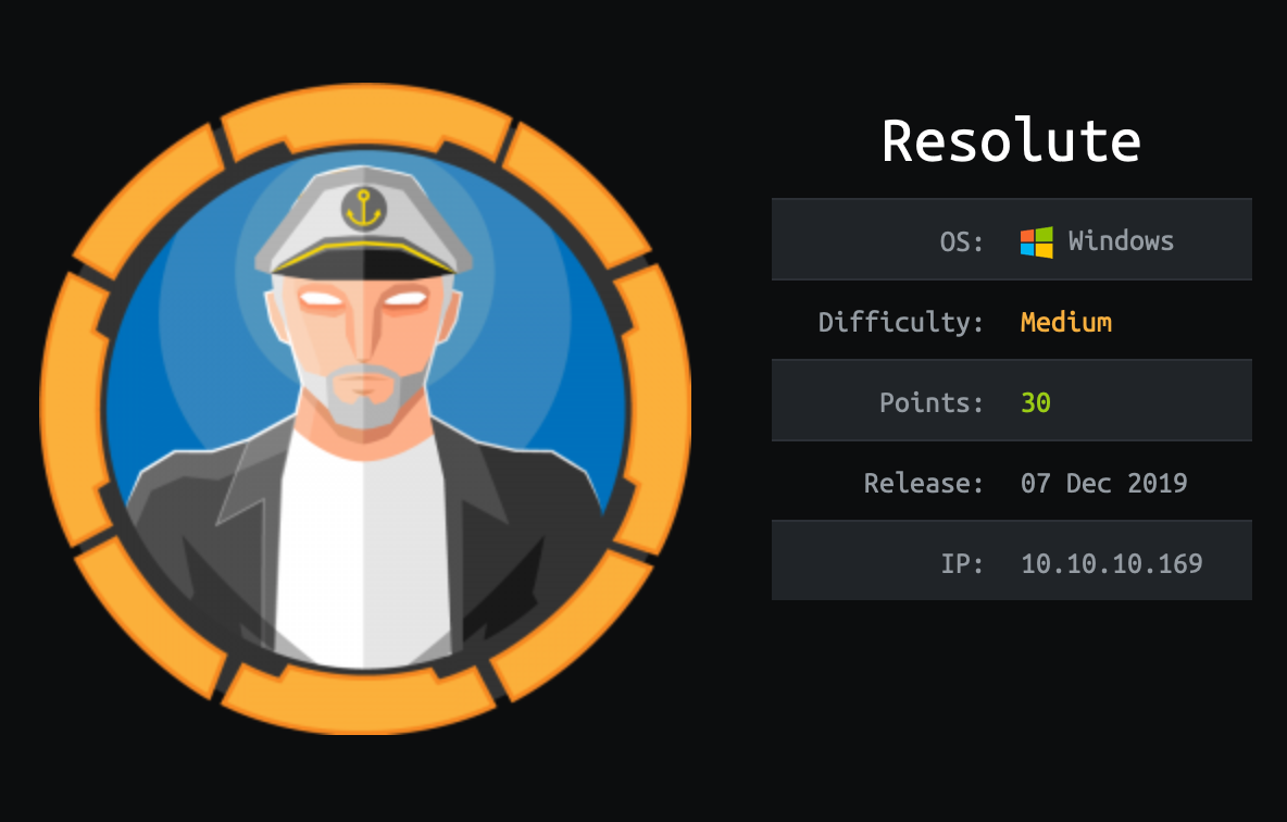HackTheBox - Resolute | Walkthrough